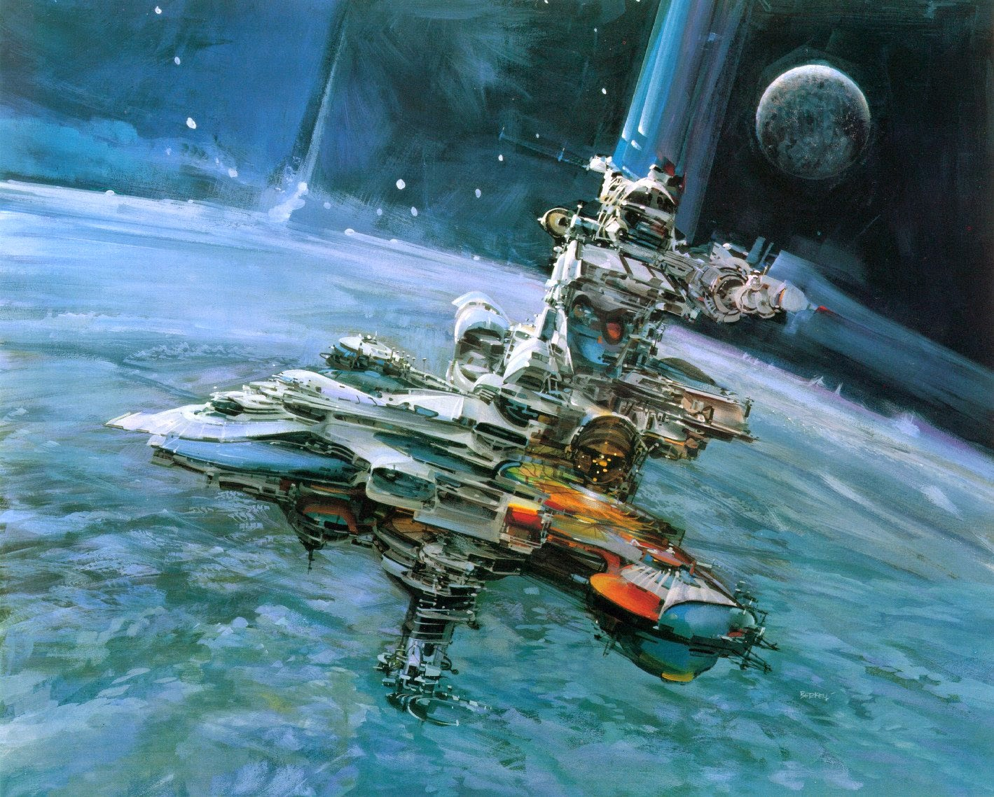 John Berkey naves espaciales