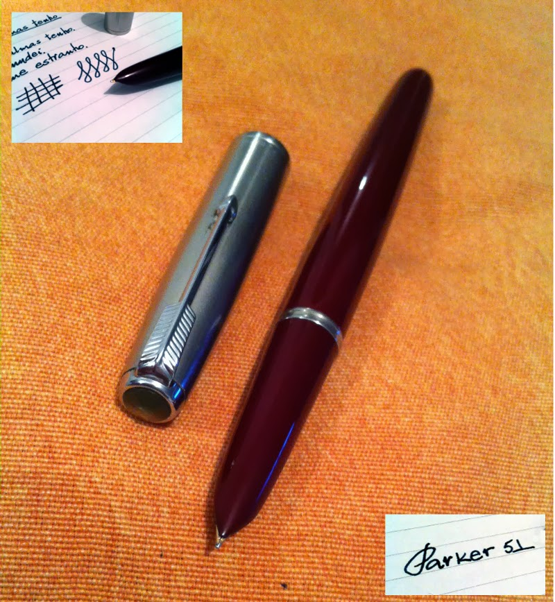 Parker 51 and writing sample
