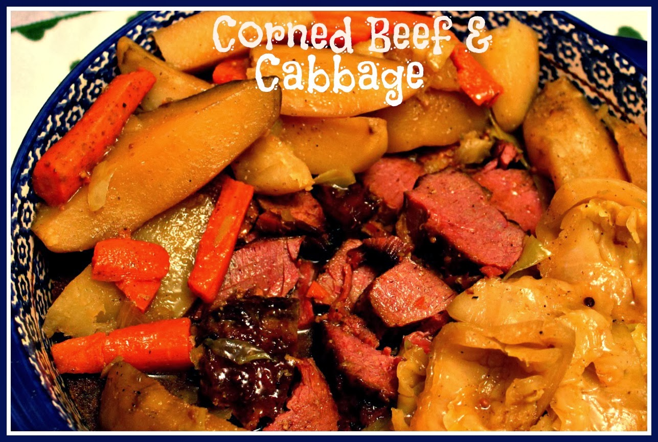 Sweet Tea and Cornbread: Slow Cooker Corned Beef and Cabbage!