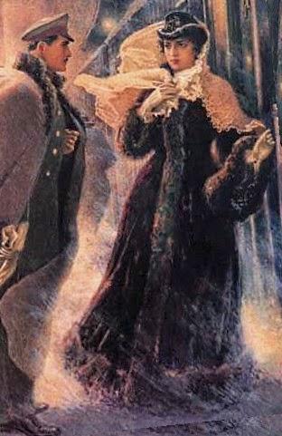 Картинка с Вронским и Анной Карениной
