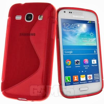 Coque rouge pour Samsung Galaxy Core Plus G3500