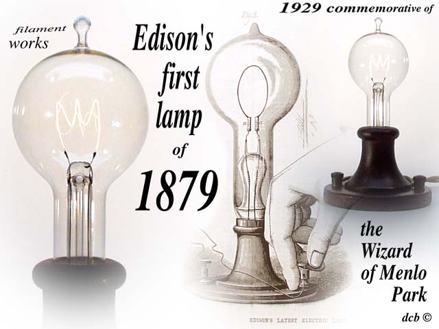 Thomas Edison and his invention of the lightbulb?