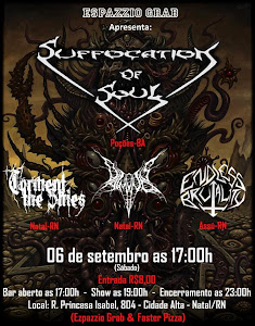 SUFFOCATION OF SOUL, ENDLESS BRUTALITY, DAIMONOS E TORMENT THE SKIES