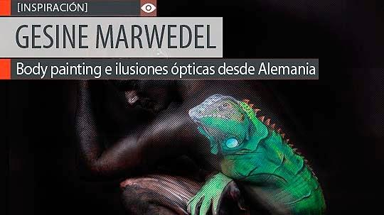 Body painting e ilusiones ópticas de GESINE MARWEDEL