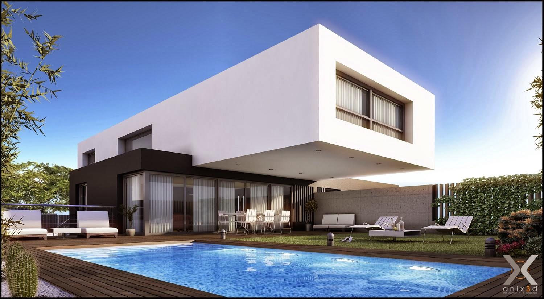 Fachadas de casas modernas casas sem telhado decorsalteado for Casas modernas 4 aguas