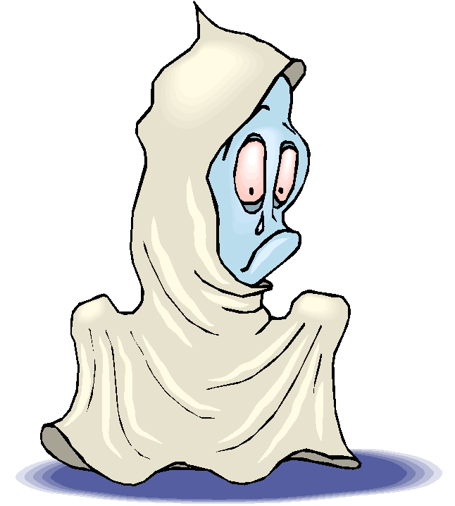 Confused Ghost Free Clipart