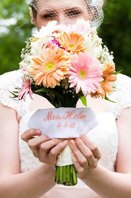 bride handkerchief, flowers, wedding, Amber Lynn Photography