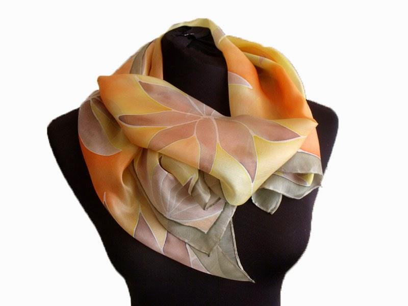 Ajándék konzulensnek, diplomaosztóra, államvizsgára: kézzel festett selyem sálak, kendők a Silkyway selyemfestő műhelyből