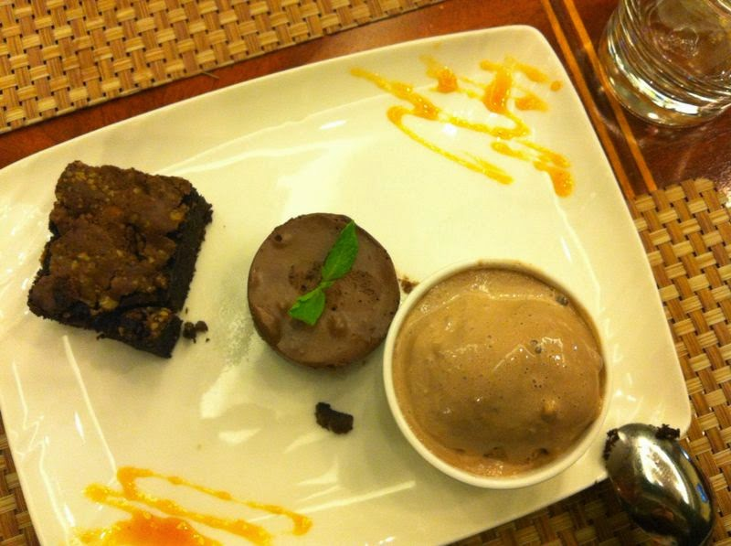 sobremesa - trio de chocolate