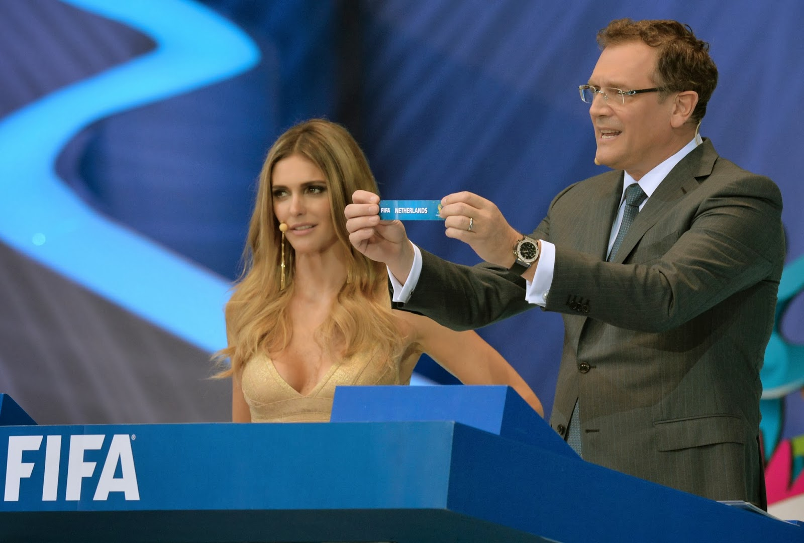 Bahia, Brazil, Costa do Sauipe, Draw, Fate, Fernanda Lima, FIFA, FIFA 2014, FIFA 2014 World Cup, FIFA World Cup, FIFA World Cup 2014, Jerome Valcke, Netherlands, Secretary General, State, World Cup,