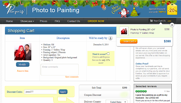 Paint Your Life offers custom works of art from your own photo references!