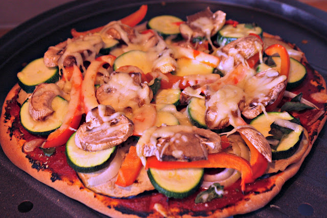 home-made vegetarian pizza