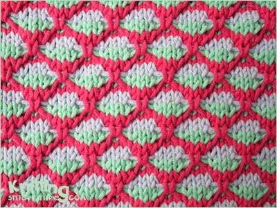 Slip Stitch Knitting Patterns Free : 2 COLOR SLIP STITCH KNITTING PATTERNS   KNITTING PATTERN