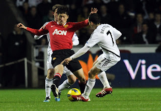 Swansea City Vs Mannchester United Park ji sung