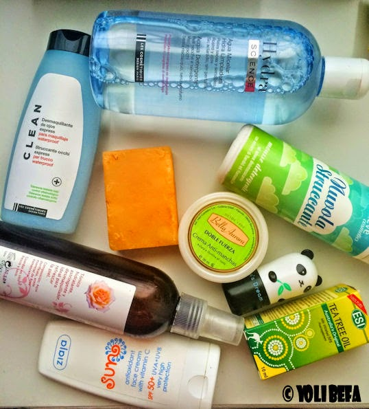 Productos de higiene facial diaria