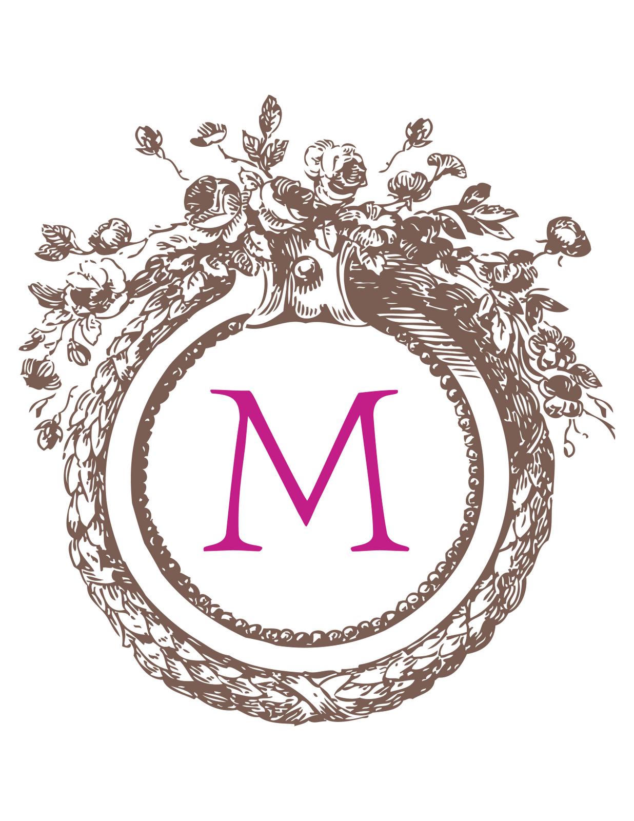 Downloadable monogram fonts names