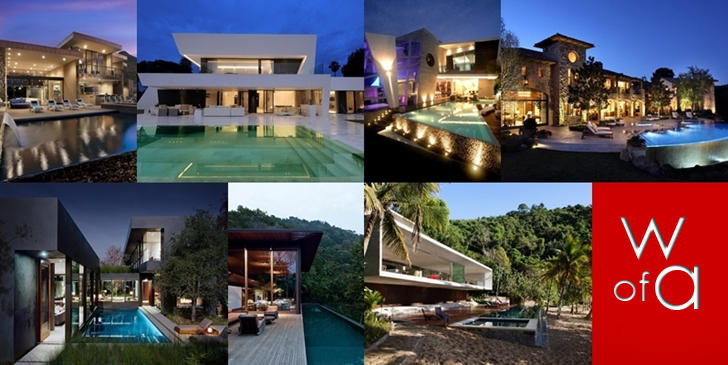 Modern houses with pools