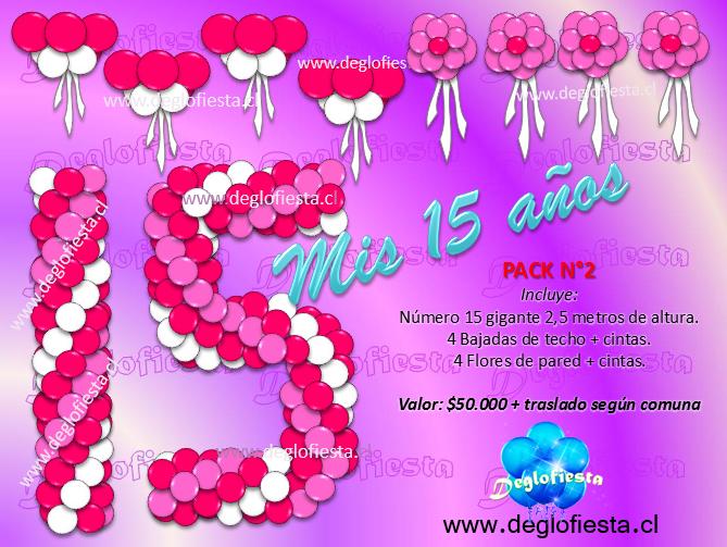 Deglofiesta chile decoraciones con globos para fiestas de for Decoracion de globos para 15 anos