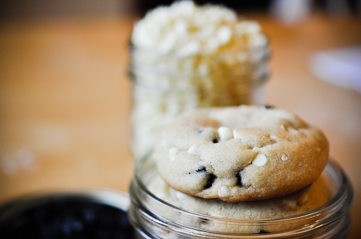 ... chocolate chip cookie blueberry and white chocolate chip jumbo cookie