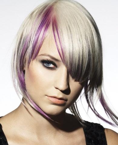 Dapper Purple Hair Highlights 2014