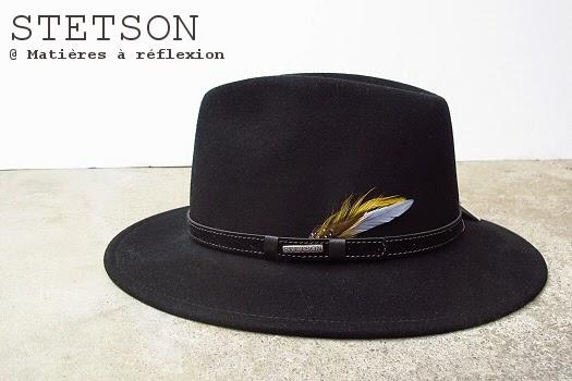 Chapeau grand bord noir Stetson Vancouver pour femme
