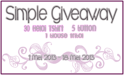 Simple Giveaway by Nina & Hani