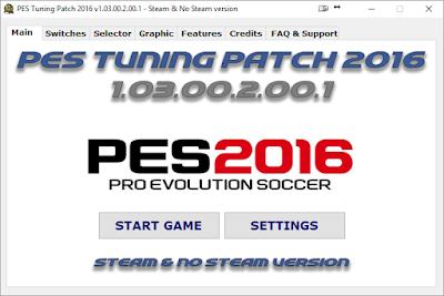 Patch PES 2016 Terbaru dari PES Tuning V1.03