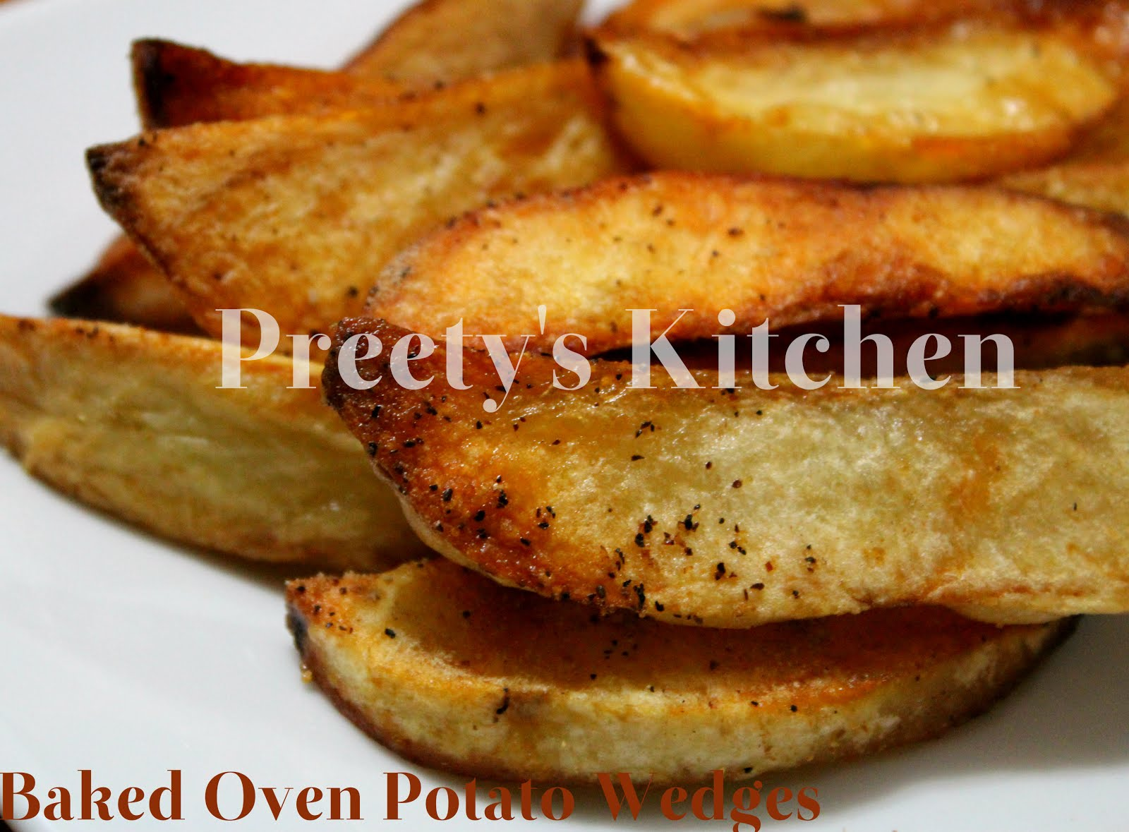 Preety's Kitchen: Baked Oven Potato Wedges