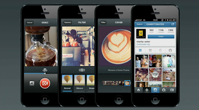 15 seconds video sharing with filters and frames for Instagram on iOS and Android devices