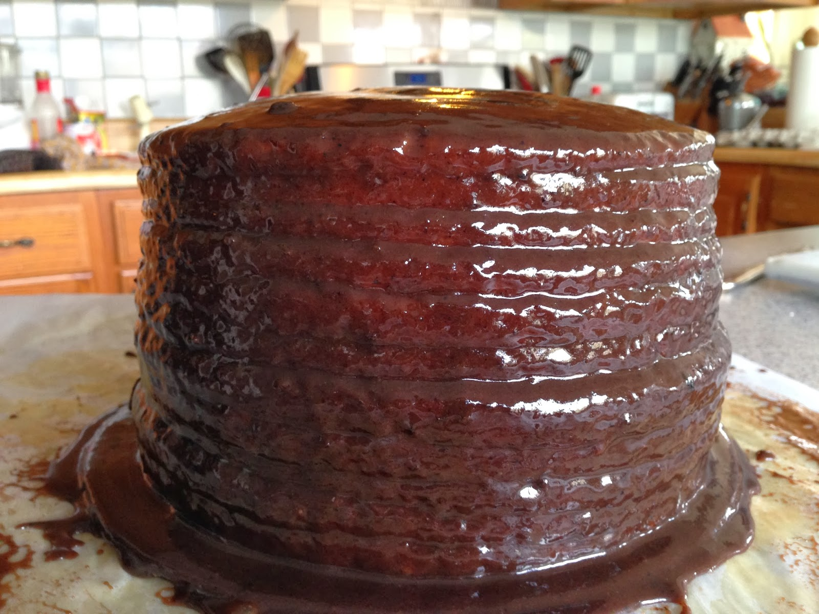 Grand Marnier Chocolate Cake With Shiny Icing Recipes — Dishmaps