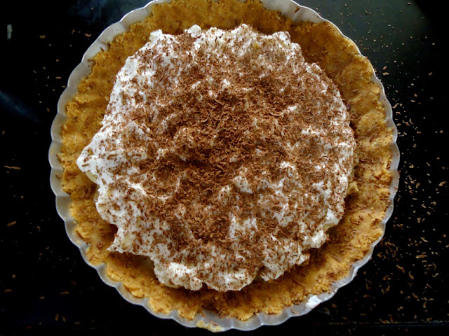 eggless, no bake, Banoffee pie