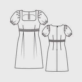 Vestido corte imperio molde