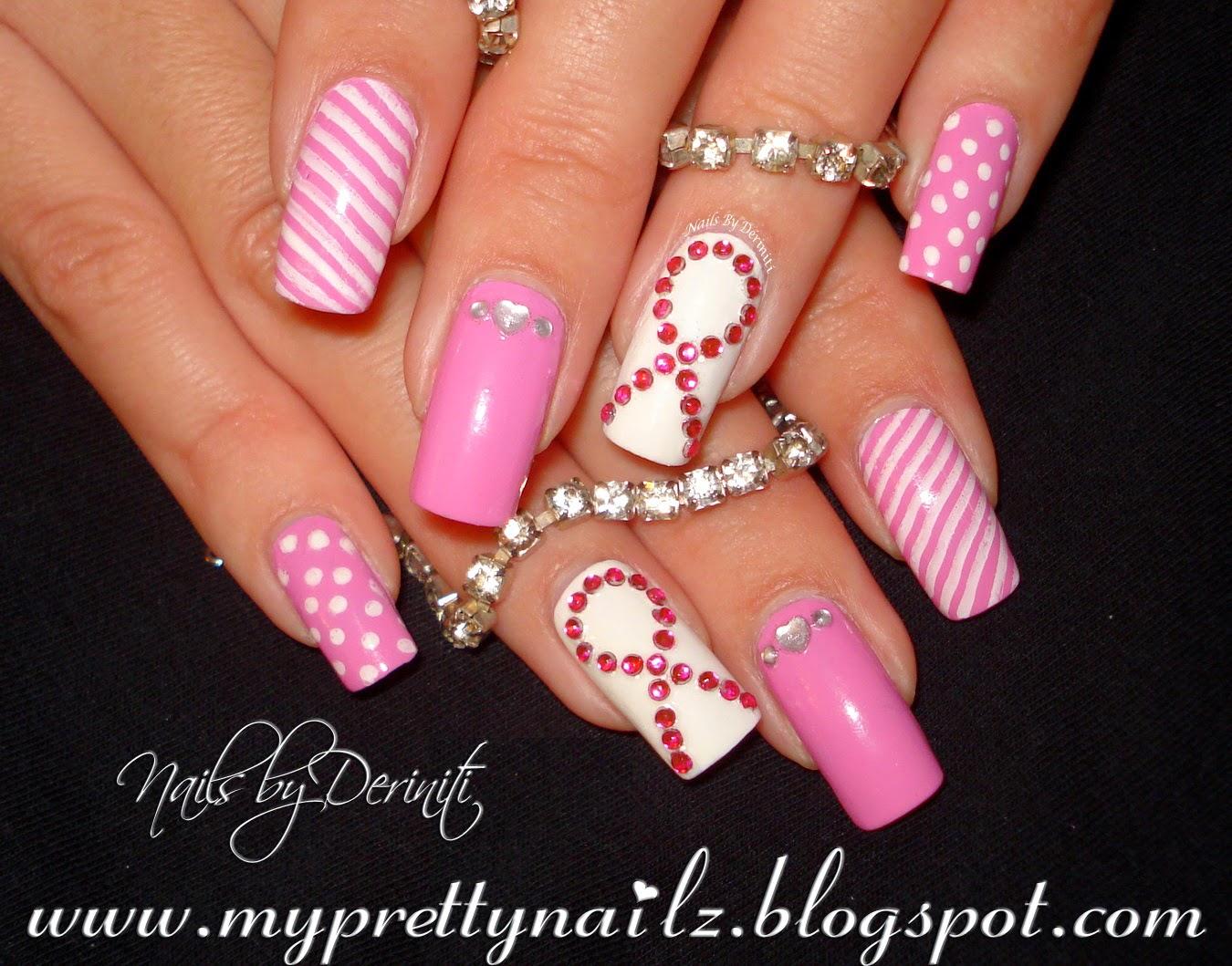 Pink N White Nail Designs