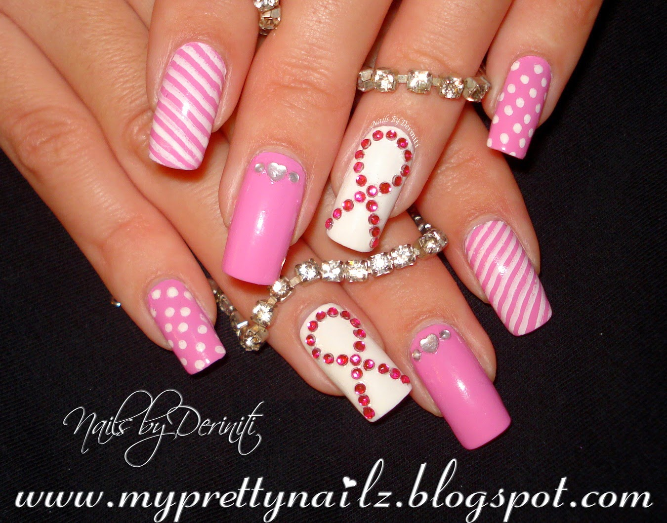 ... Pink Black Nails on Pinterest Square Nails Emo Nail Art - pink n white nail  designs ... - Pink N White Nail Designs
