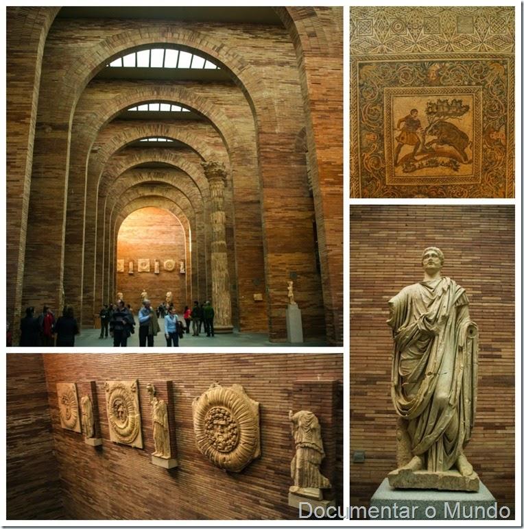Interior do Museu Nacional de Arte Romano, Mérida, Espanha