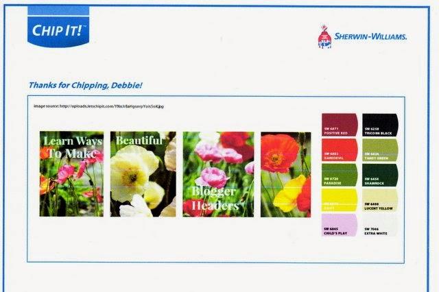secrets to choosing blog colors; find palette of colors on Chip it
