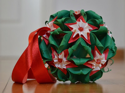 kusudama Flor de Navidad