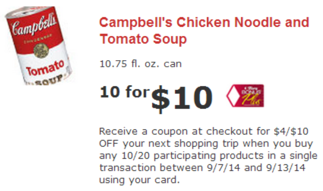 image relating to Campbell Soup Printable Coupon called Campbells soup discount coupons september 2018 - Mrs ts pierogies