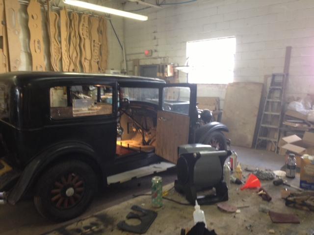 Custom Wood Redoing Interior On A Vintage Car