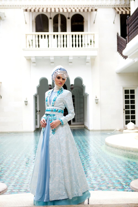 Gambar model baju gamis muslimah modern terbaru Gambar baju gamis pesta 2014
