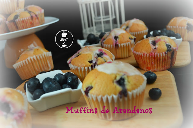 muffins de arandanos