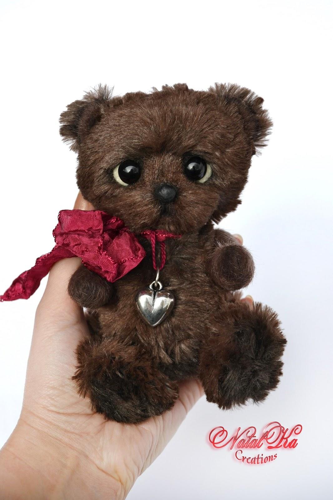 Artist teddy bear, teddies, artist bear, teddy, ooak, handmade by NatalKa Creations. Авторский медвежонок тедди с шармом, мишка тедди, медведь тедди, ручная работа, единственный экземпляр от NatalKa Creations.