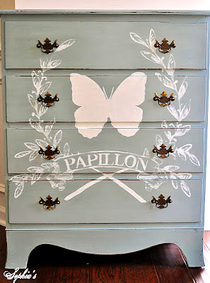 French Butterfly Chalk Paint Dresser Annie Sloan