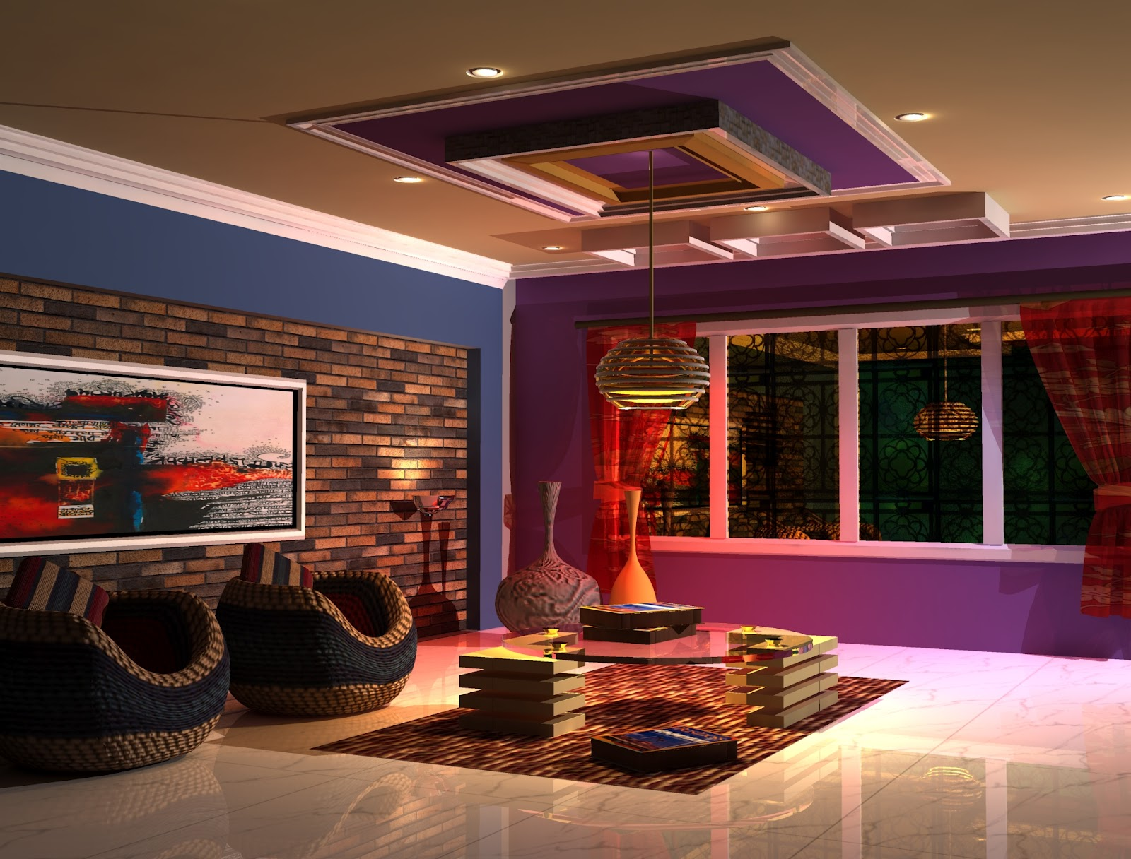 My work interior work living room using 3ds max for Living room 3ds max