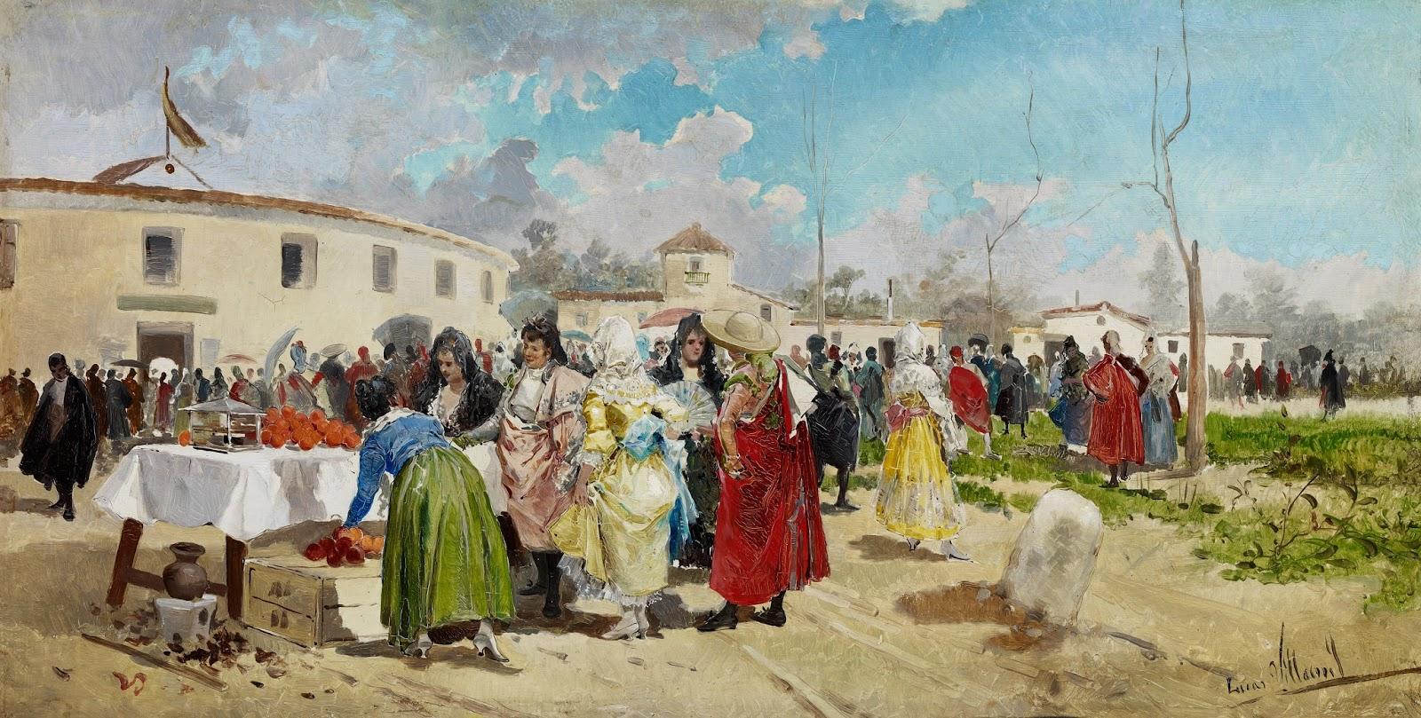 Pintura malague a del siglo xix miscel neas el - Pinturas arenas granada ...