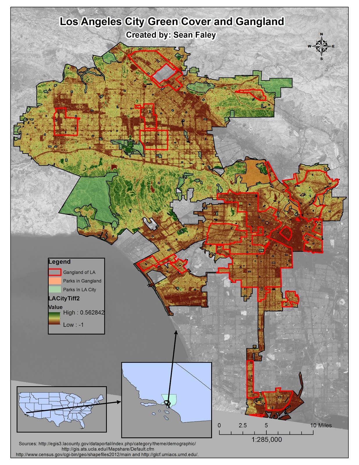 Tree Cover And Gangland In Los Angeles City Results - Los angeles map gangs