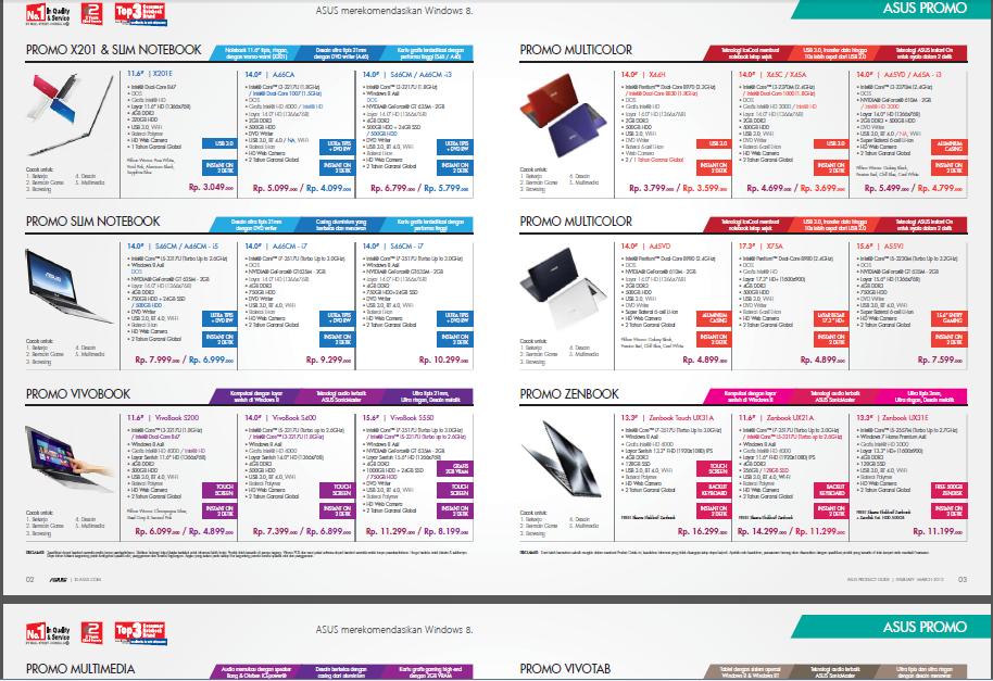 Nah anda tinggal klik disini = katalog harga asus bulan maret 2013