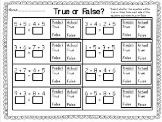 math worksheet : sample s superstars true or false equations freebie! : Math Superstars Worksheets