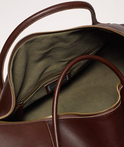 L.L Bean Signature Leather Duffle Bag