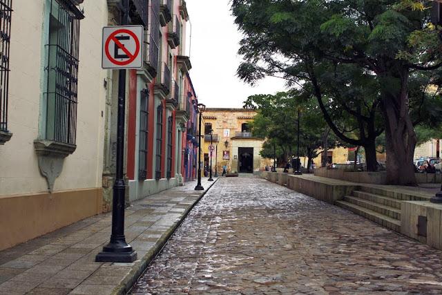 streets cobbestone oaxaca mexico